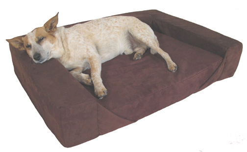 comfort den dog bolster bed