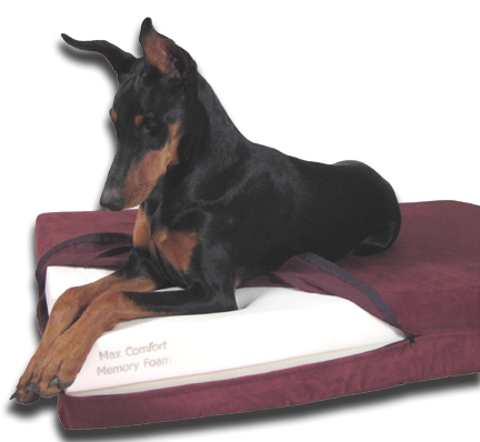orthopedic memory foam dog bed inside