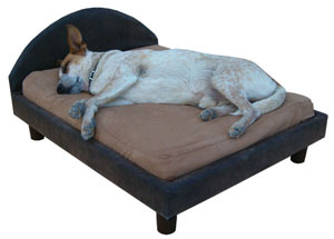 orthopedic pet bed frame and headboard