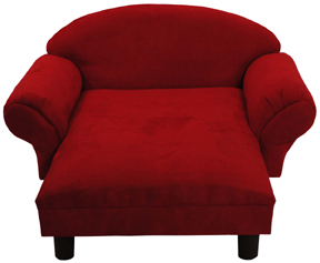 Red Micro Isadora Pet Chaise Lounge