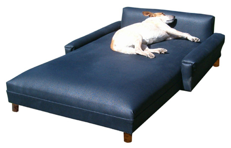 XL Red Micro Modern pet chaise lounge