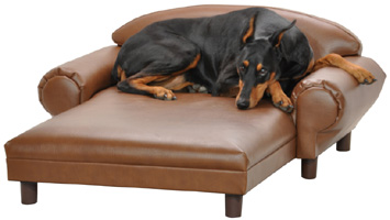 Camel Faux Leather Premier Pet Chaise Lounge